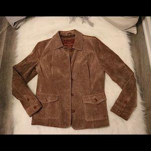 Eddie Bauer Washable Seattle Suede Leather Jacket